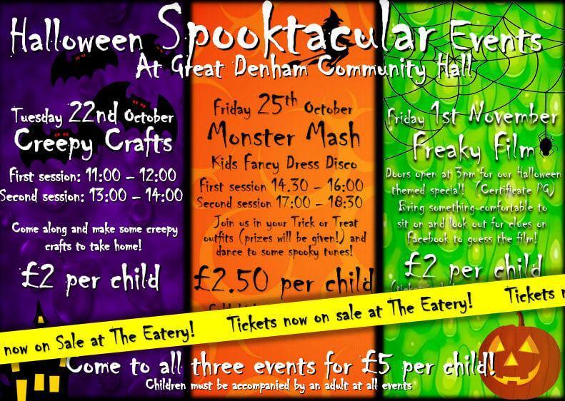Sppoktacular Events at Grean Denham